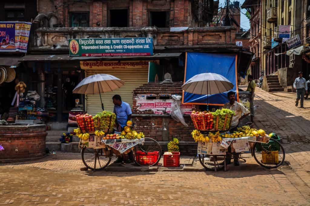 Bhaktapur street market