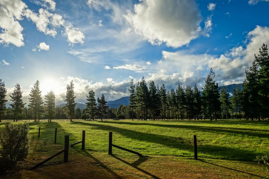 New Zealand Hanmer Springs beautiful morning