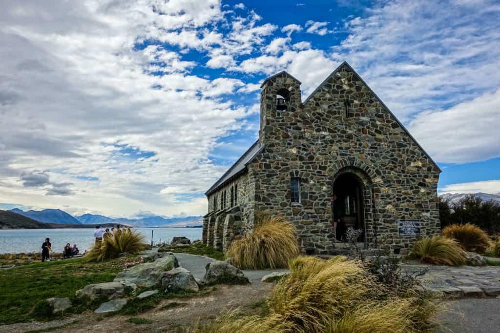 New Zealand lake Tekapo church of the good shepherd