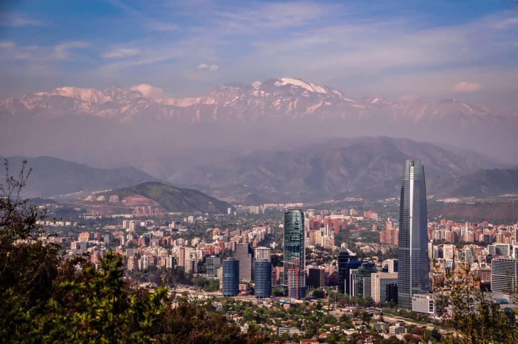 Santiago de Chile View from Cerro San Cristobal