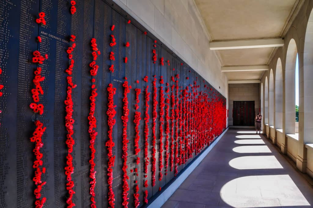 Canberra Australian war memorial wall of remembrance