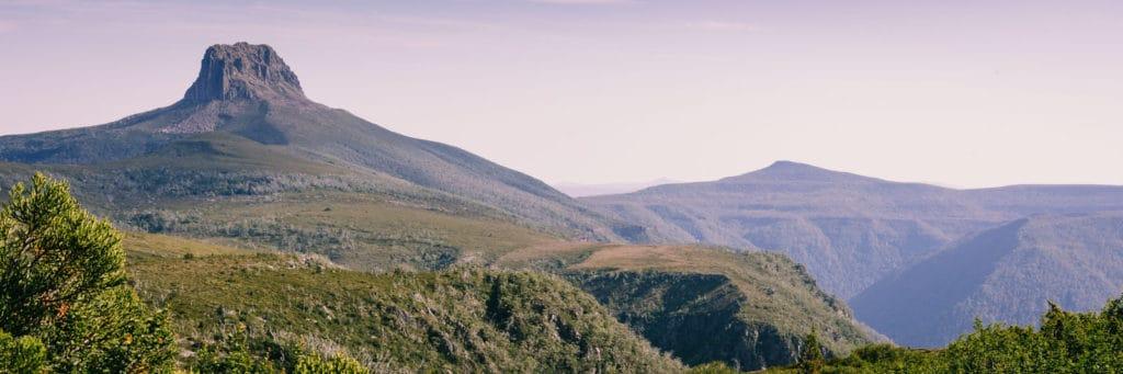 Overland Trek Mountain in Background