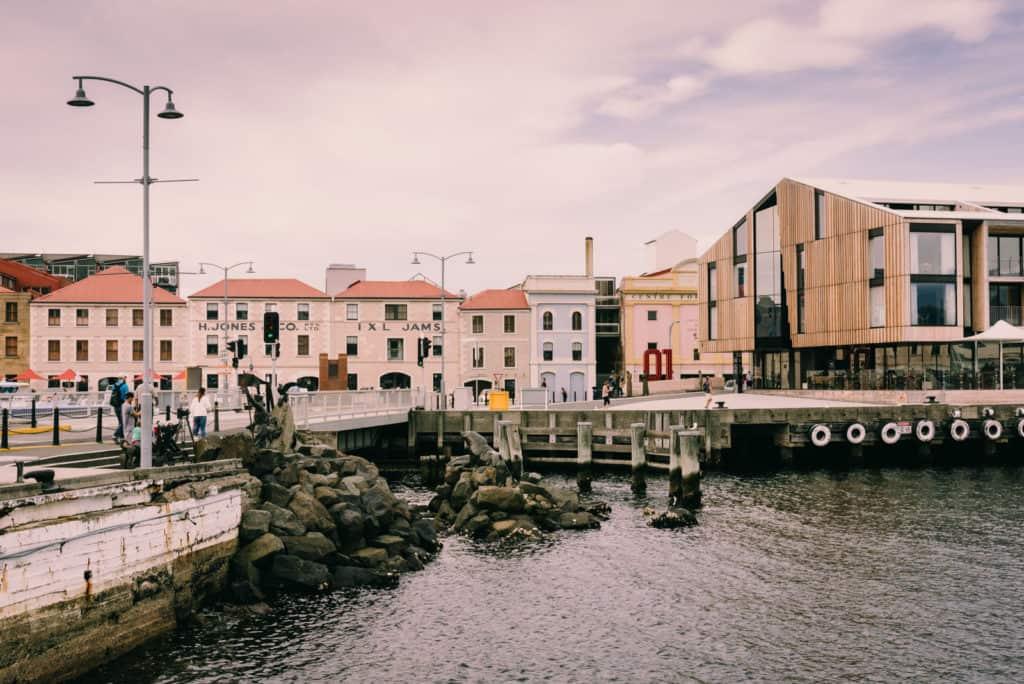 Hobart old wharf buildings H. Jones Co.