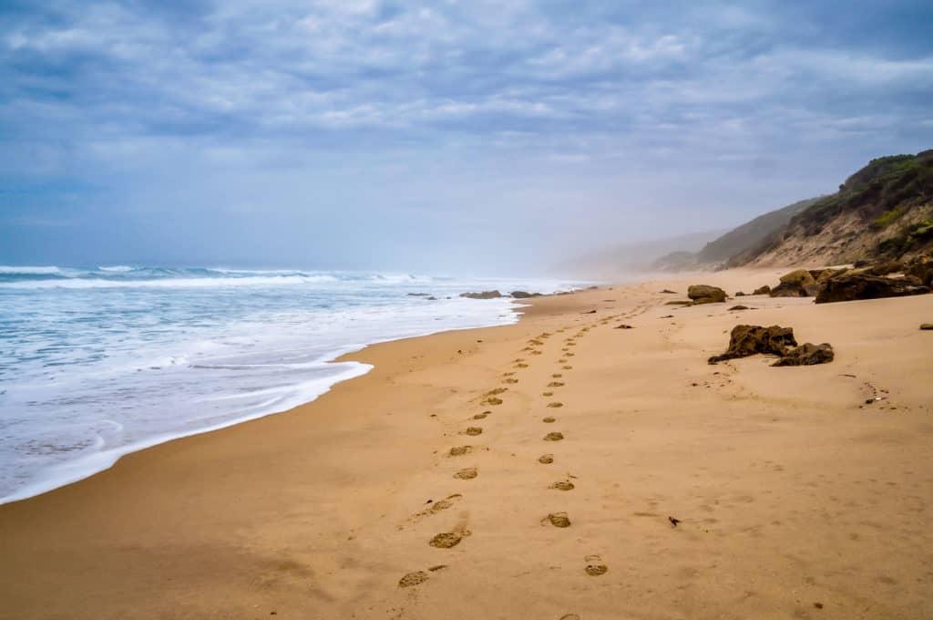 Great Ocean Road sandy beach