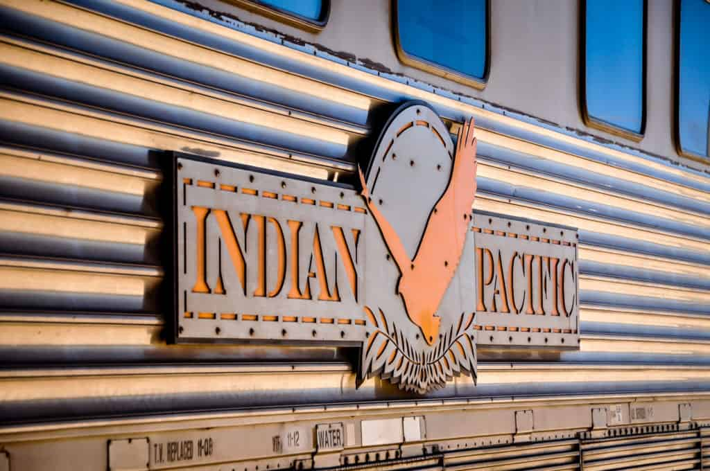 Indian Pacific train sign